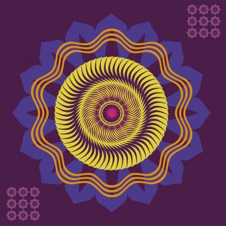 hinduismo: Floral primavera color floral mandala