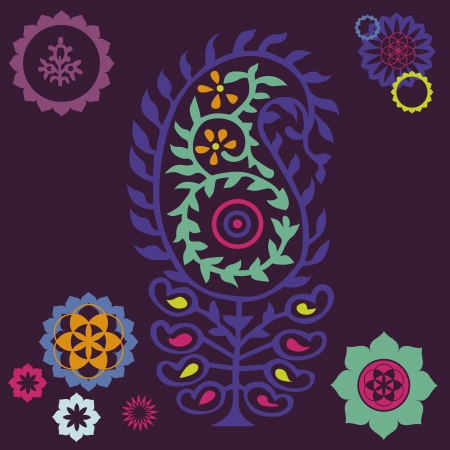 floral ornamental poster Illustration