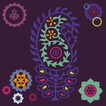 floral ornamental poster Illustration