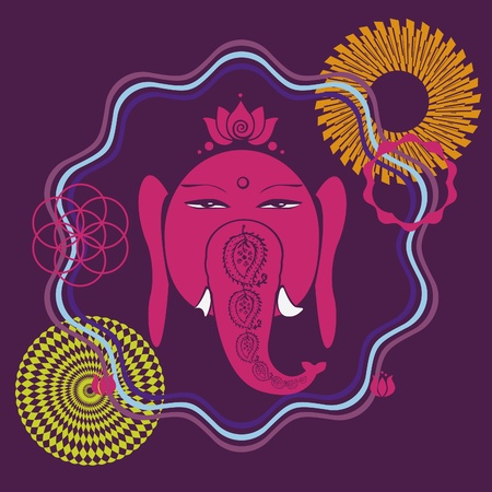 Ganesh holiday print with many details