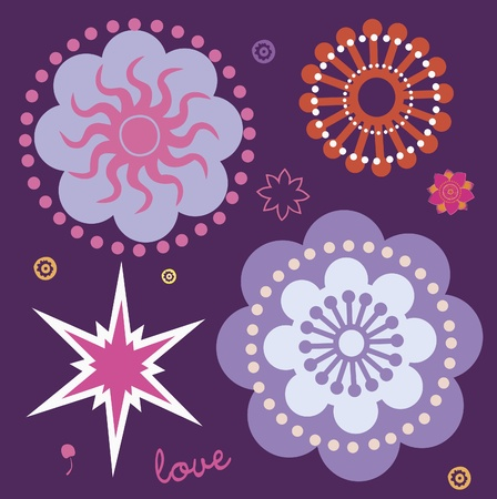 flower elements and mandalas with esoteric sense for yoga practice and design for health and wellbeing Vector
