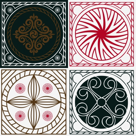 squares with national Indian ornaments Vector