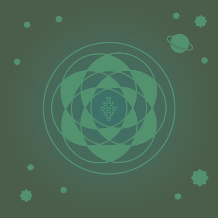 prana: flower elements and mandalas with esoteric sense for yoga practice and design for health and wellbeing Illustration
