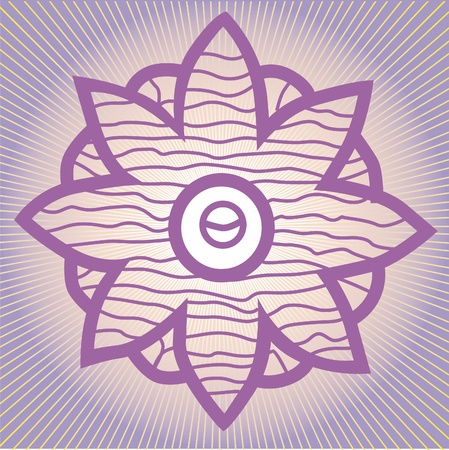flower elements and mandalas with esoteric sense for yoga practice and design for health and wellbeing Illustration