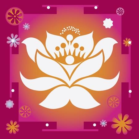 spring flower healing mandala   Vector