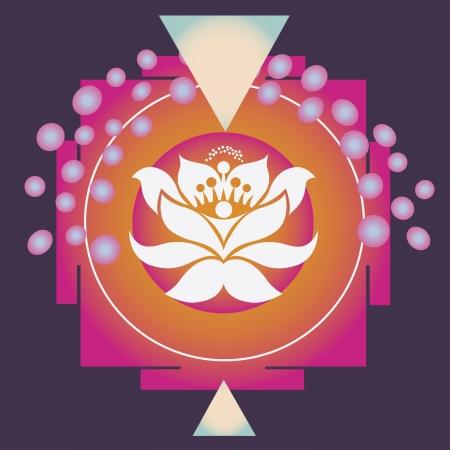spring flower healing mandala Stock Vector - 18438027