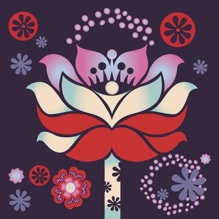 sacral: lentebloem healing mandala Stock Illustratie
