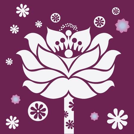 spring flower healing mandala vector design  Illustration