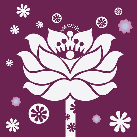 mysticism: spring flower healing mandala vector design  Illustration