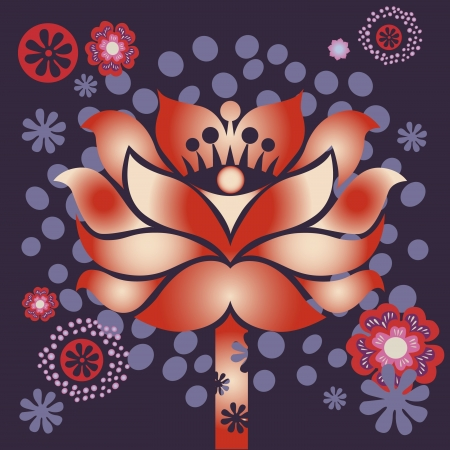 spring flower healing mandala vector design  Illustration