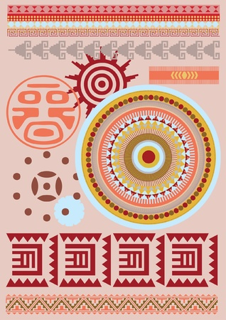 African style national ornamental vector pattern Vector