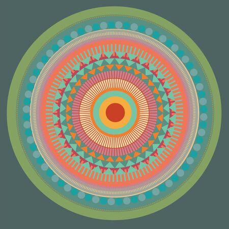 Set of color mandala. vector illustration  Vector