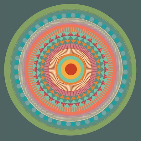 Set of color mandala. vector illustration Stock Vector - 18463828