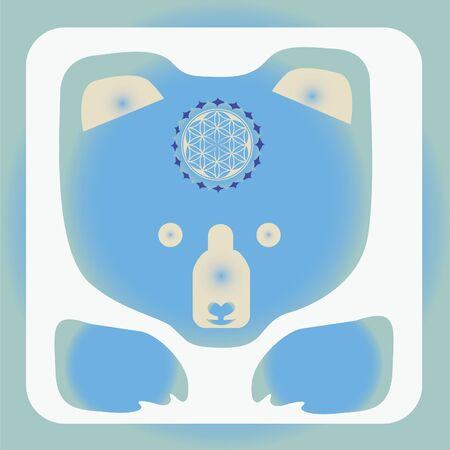 bear vector icon-design with mandala Stock Vector - 18464802