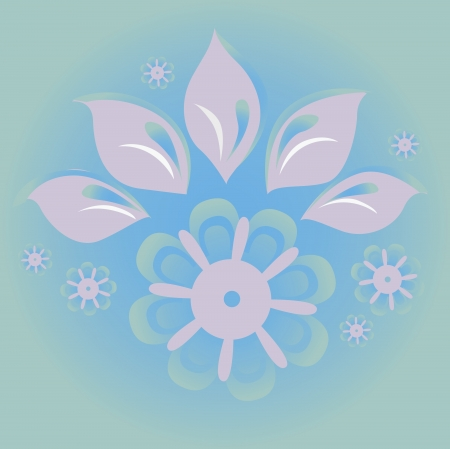 Floral vector illustration blue background Stock Vector - 18464775