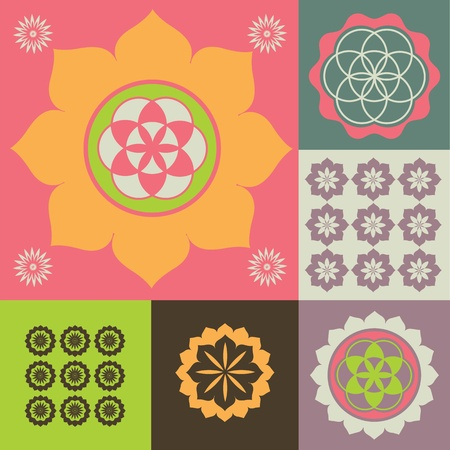 Vector ornament from flower symbols special sense Stock Vector - 18464982