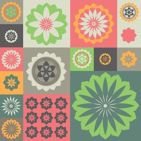 Vector ornament from flower symbols special sense Stock Vector - 18464936