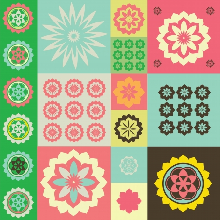 Vector ornament from flower symbols special sense