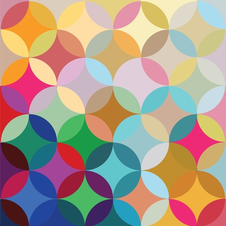 Vector print of round elements  Illustration