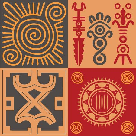Indian ornament vector set