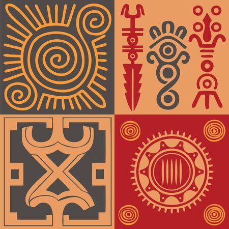 Indian ornament vector set