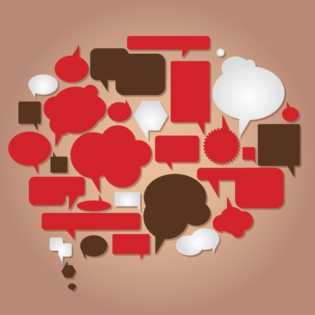 debate: dialog bubbles vector collection Illustration