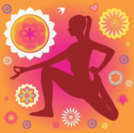 chakra: Affiche vecteur avec les �l�ments floraux d�coratifs