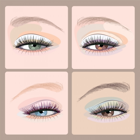 make-up eyes  illustration Vector