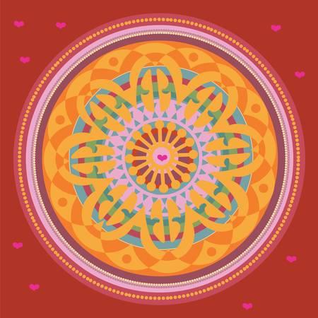 windsor: Set of color mandala. illustration