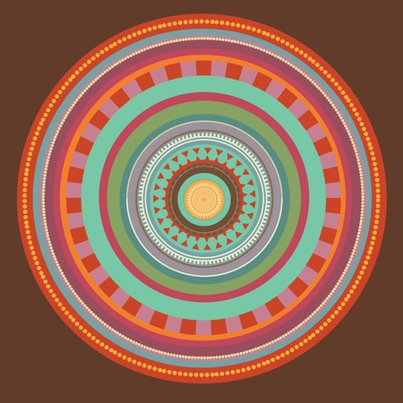 Set of color mandala. illustration  Vector