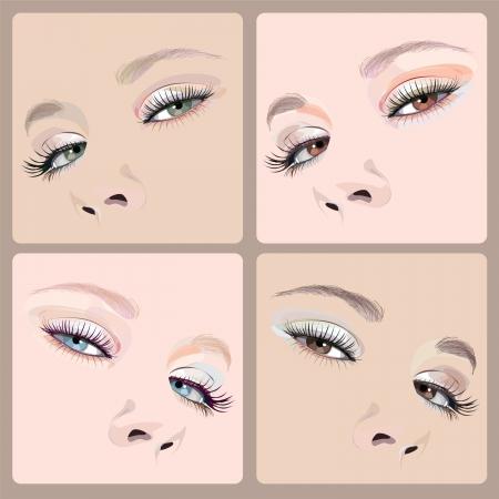 make-up illustration Vektoros illusztráció