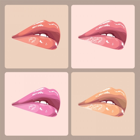 make-up lips illustration Stock Vector - 18617709