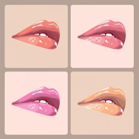 make-up lips illustration Stock Vector - 18617709
