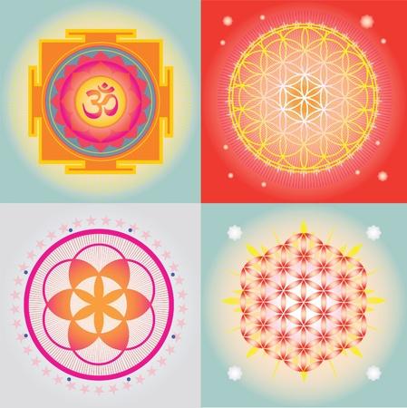 Yantra en mandala ontwerpen