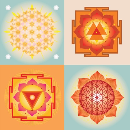 manipura: Yantra and mandala designs