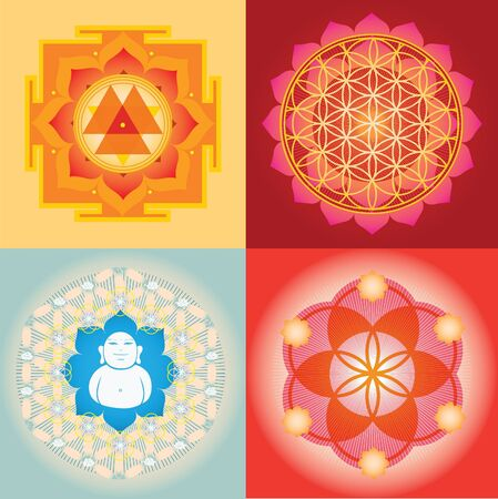 Yantra and mandala  designs Vector