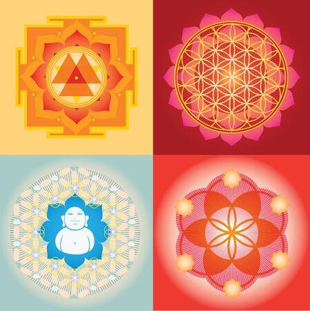 vishuddha: Yantra and mandala  designs