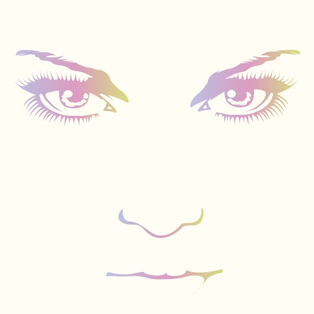 Magnificent woman face design Stock Vector - 18844507