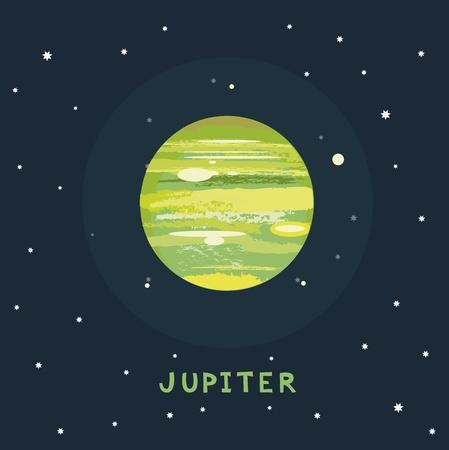 jupiter: JUPITER space view illustration