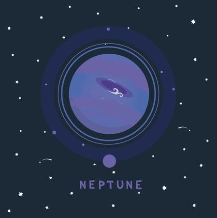 neptuno: NEPTUNO vista espacio ilustración