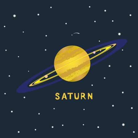 SATURN space view  illustration
