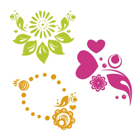 vector russian style floral designs Vector
