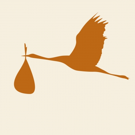 crane with bag vector illustration Vector