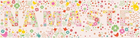 berryes: floral NAMASTE banner