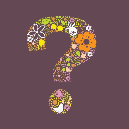 berryes: Question mark floral design Illustration