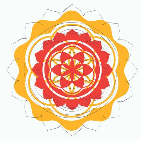 sacred geometry: floral sacred geometry lotus