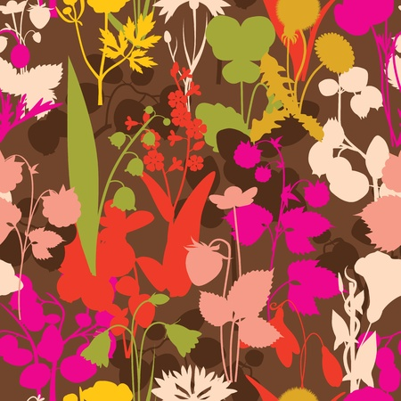 wood gifts berryes and flowers Vector
