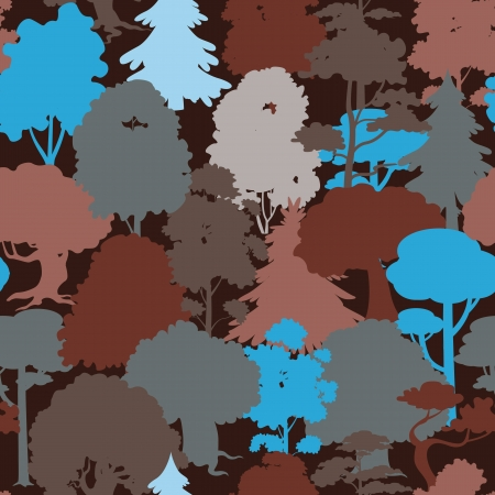 seamless forest camouflage pattern Illustration