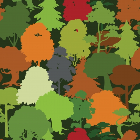 Seamless forest pattern Vector