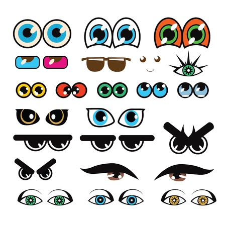 cat's eye glasses: Collection of various eyes